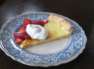 meyer lemon tart with berries